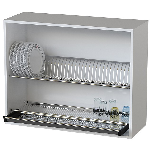 DISH RACK WITH DRAIN BOTTOM RACK